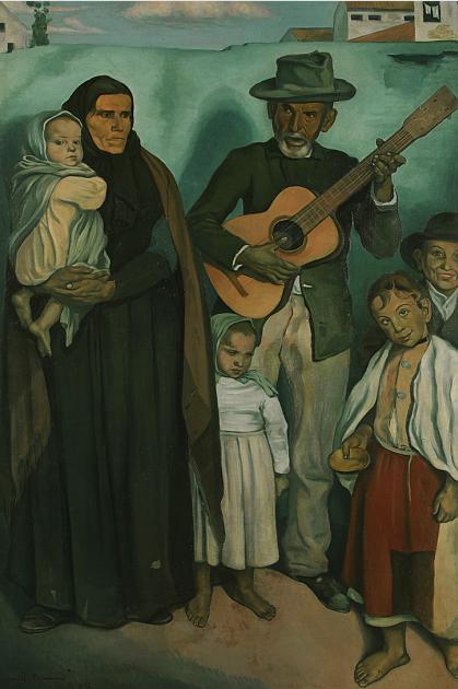 Les mendiants espagnols 1897  hst collection privée