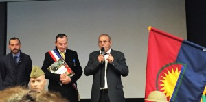 Mr Philippe SARTORI (Maire de Noyers sur cher) et Mr Alvaro RODRIGUEZ (collectionneur)